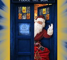 Public Police Call Box Santa Claus Christmas by Jason Subroto