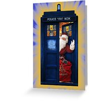 Public Police Call Box Santa Claus Christmas Greeting Card
