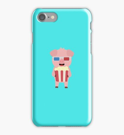 Cinema Pig with Popcorn iPhone Case/Skin