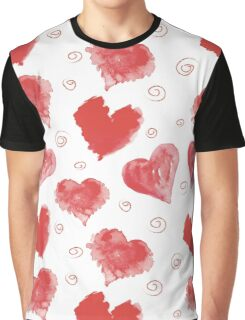 red hearts Graphic T-Shirt