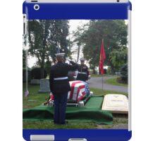 Honoring A Faithful Soldier iPad Case/Skin