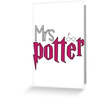 Mrs Potter Version 2 Greeting Card