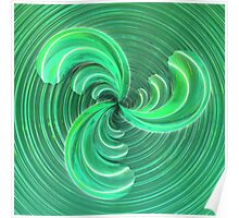 Verde Glass Bow Poster