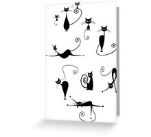 Black Cats Cat Shirt Funny Greeting Card