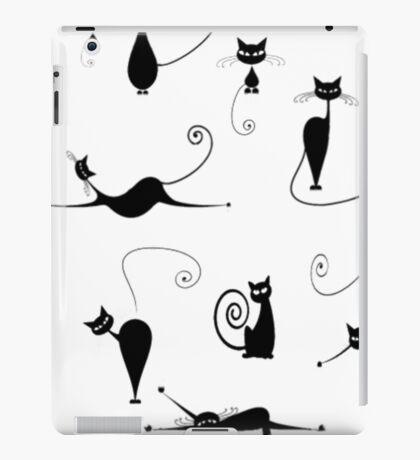 Black Cats Cat Shirt Funny iPad Case/Skin