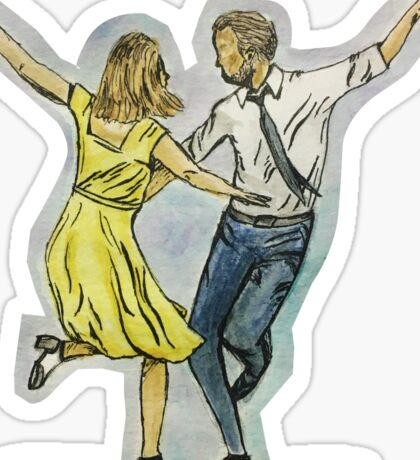 La La Land - Mia and Sebastian Sticker