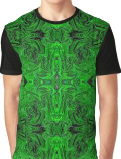 2017 Psychedelic Green Graphic T-Shirt