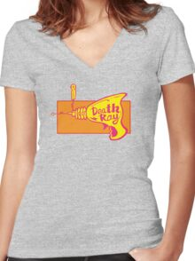 Death Ray Women's Fitted V-Neck T-Shirt