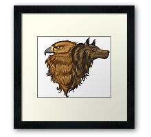 Eagle and Wolf Framed Print
