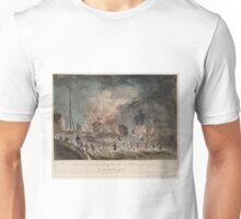 Fire on the Pont Neuf in Paris - 1788 Unisex T-Shirt