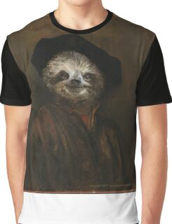 Rembrandt Self-Portrait As Sloth Print Graphic T-Shirt