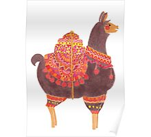 The Lovely Llama Poster