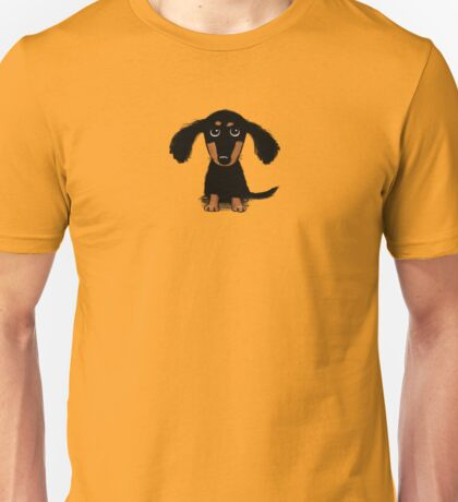 Long Haired Dachshund Puppy Unisex T-Shirt