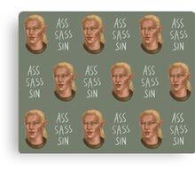Ass, Sass, Sin. Canvas Print