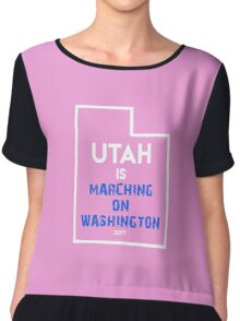 Utah is Marching on Washington Chiffon Top