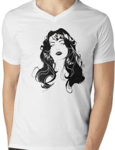Wonder Woman Mens V-Neck T-Shirt