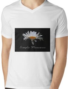 Simple pleasures. Mens V-Neck T-Shirt