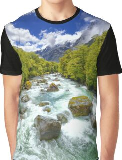 New Zealand Landscape 12 Graphic T-Shirt