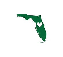 Florida is Where the Heart is (Green) by Ariel James