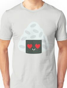 Onigiri Rice Ball Emoji Heart and Love Eye Unisex T-Shirt