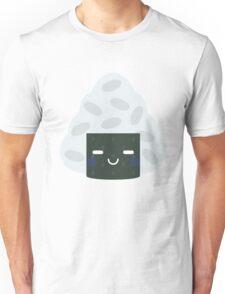 Onigiri Rice Ball Emoji Teary Eye with Joy Unisex T-Shirt