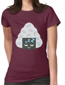 Onigiri Rice Ball Emoji Sleep and Dream Womens Fitted T-Shirt