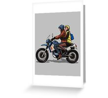 Girl, man, bike Greeting Card