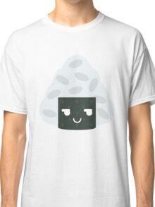 Onigiri Rice Ball Emoji Cheeky and Up to Something Classic T-Shirt