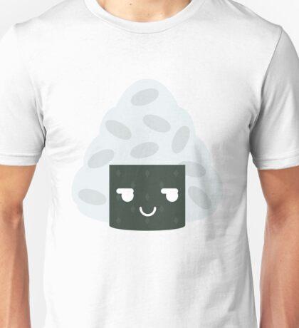Onigiri Rice Ball Emoji Cheeky and Up to Something Unisex T-Shirt