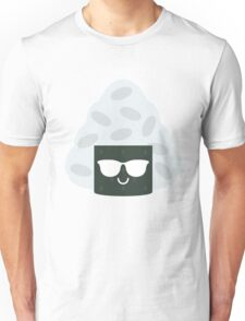 Onigiri Rice Ball Emoji Cool Sunglasses Unisex T-Shirt