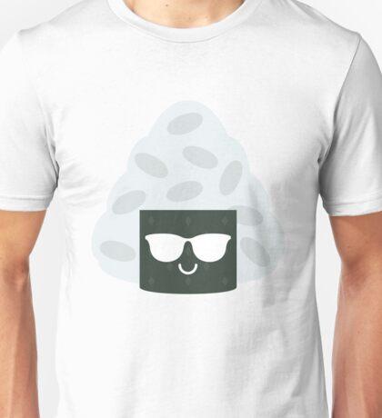 Onigiri Rice Ball Emoji Cool Sunglasses Unisex T-Shirt