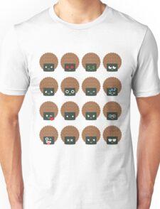 Seaweed Rice Cracker Emoji Different Facial Expression Unisex T-Shirt