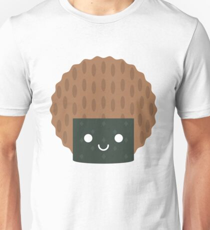 Seaweed Rice Cracker Emoji Happy Smiling Face Unisex T-Shirt