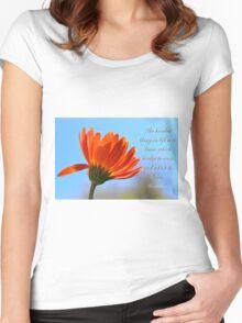 Bridge to burn Women's Fitted Scoop T-Shirt