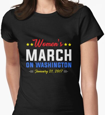 Womens March on Washington January Womens Fitted T-Shirt