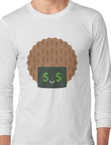 Seaweed Rice Cracker Money Face Long Sleeve T-Shirt