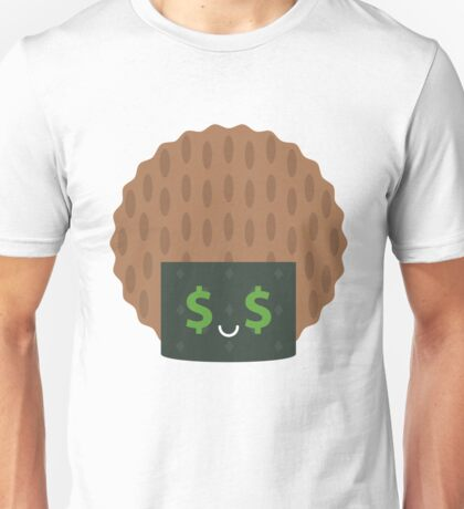 Seaweed Rice Cracker Money Face Unisex T-Shirt