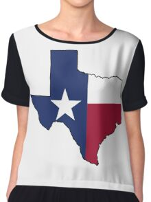 Texas Flag on the Greatest State in America: Texas Chiffon Top