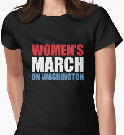 Womens's March on Washington Womens Fitted T-Shirt