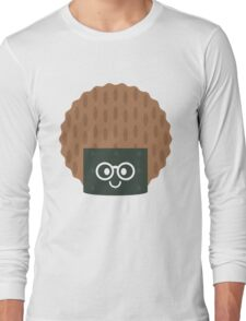 Seaweed Rice Cracker Emoji Nerd Noob Glasses Long Sleeve T-Shirt