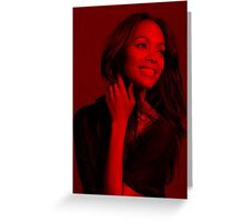 Zoe Saldana - Celebrity Greeting Card