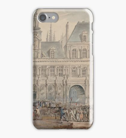 Assassination of Jacques de Flesselles - French Revolution - 1789  iPhone Case/Skin