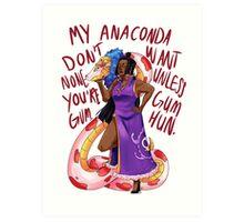 Anaconda - Boa Hancock Art Print