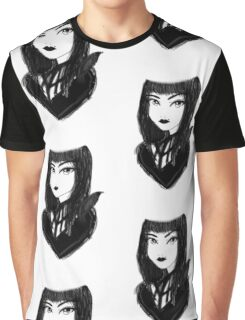 Gothic Raven Girl Graphic T-Shirt
