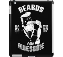 Beards are Awesome white iPad Case/Skin
