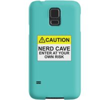 CAUTION: NERD CAVE, ENTER AT YOUR OWN RISK Samsung Galaxy Case/Skin