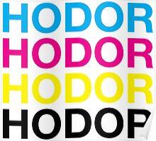 CMYK Hodor Poster