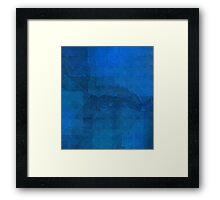 blue glimmer Framed Print