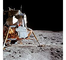View of the Apollo 14 Lunar Module on the moon. Photographic Print