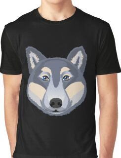The head of a wolf.  Graphic T-Shirt